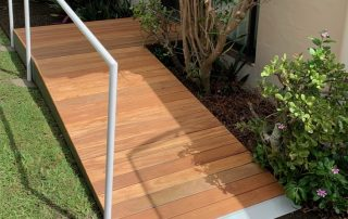 outdoor timber ramp